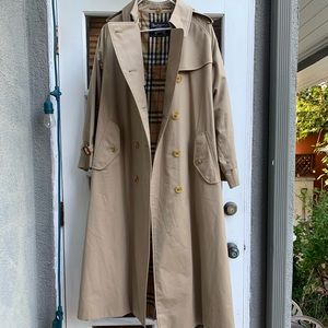Vintage burberry floor length trench